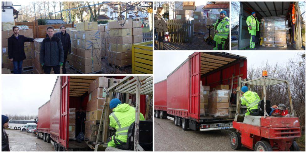 На доброто Силата, осма година. С дарен транспорт от DSV Road България шест палета Коледа в кутия тръгнаха от Мюнхен днес.